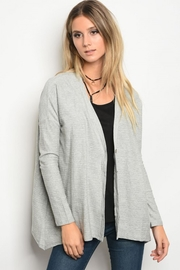 Very J Grey Cardigan - Front cropped