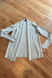 One Grey Day Grey Cardigan Sweater - Front cropped
