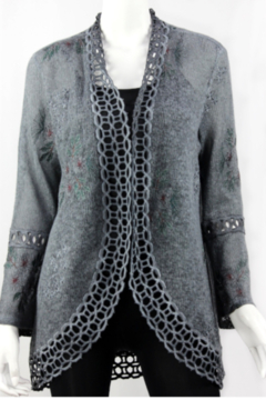 Vintage Grey cardigan with detailing - Product List Image
