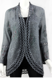 Vintage Grey cardigan with detailing - Product Mini Image