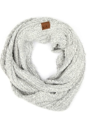 CC SKYE Grey Chenille Scarf - Product Mini Image
