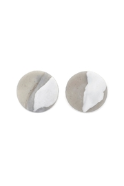 Hello Zephyr Grey Clay Earrings - Product Mini Image