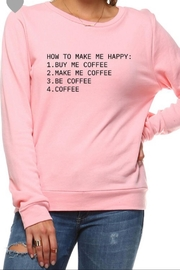 Rock Rose Couture Grey Coffee Sweatshirt - Front cropped