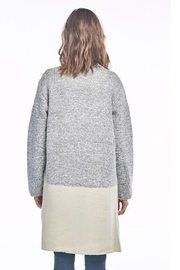 Sinuous Grey Colorblock Cardigan - Front full body