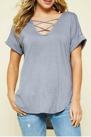 Promesa USA Grey Criss-Cross Top - Product Mini Image