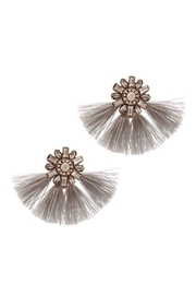 Baggis Accesorios Grey Cristal Earrings - Product Mini Image