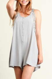People Outfitter Grey Crochet  Romper - Product Mini Image