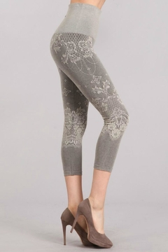 Mrena Grey Crop Leggings - Alternate List Image