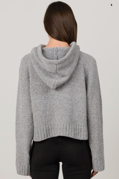Margaret O'Leary Grey Cropped Hoodie - Alternate List Image