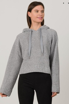 Margaret O'Leary Grey Cropped Hoodie - Product List Image