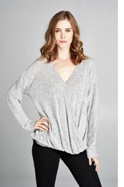 Sinuous Grey Cross Sweater - Product Mini Image