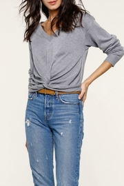 Heartloom Grey Crossfront Sweater - Product Mini Image