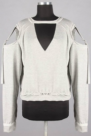Minx Grey Crosstie Sweater - Product Mini Image