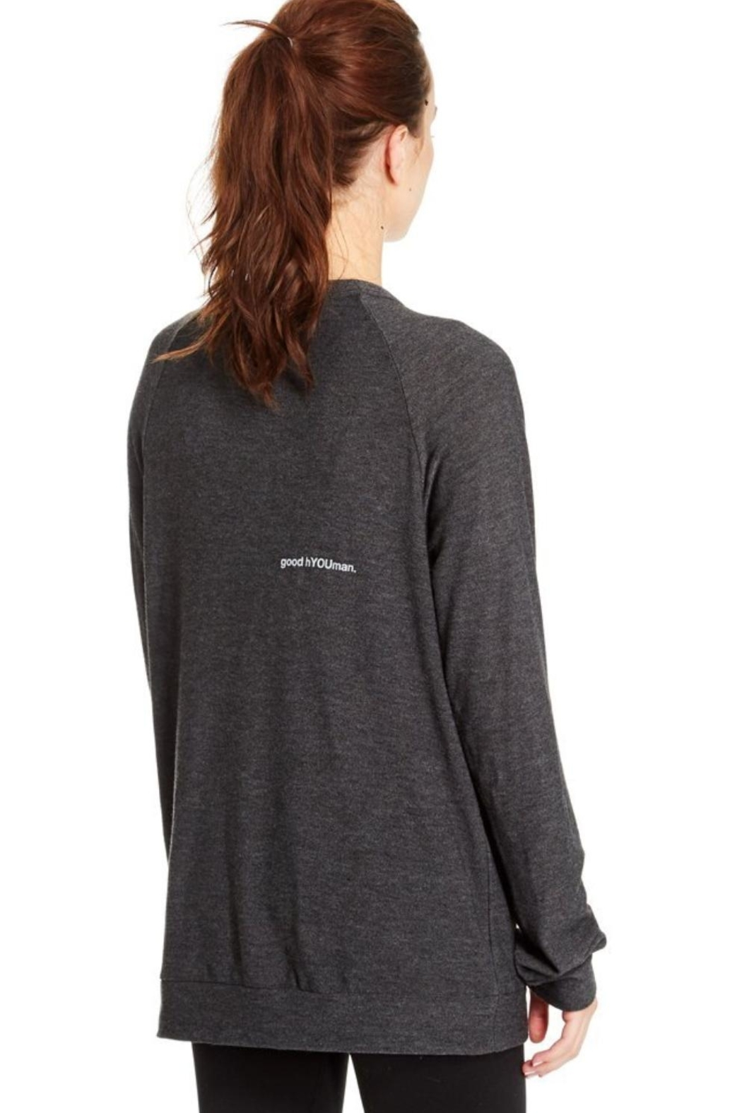 GoodhYOUman Grey Dave Sweater - Side Cropped Image
