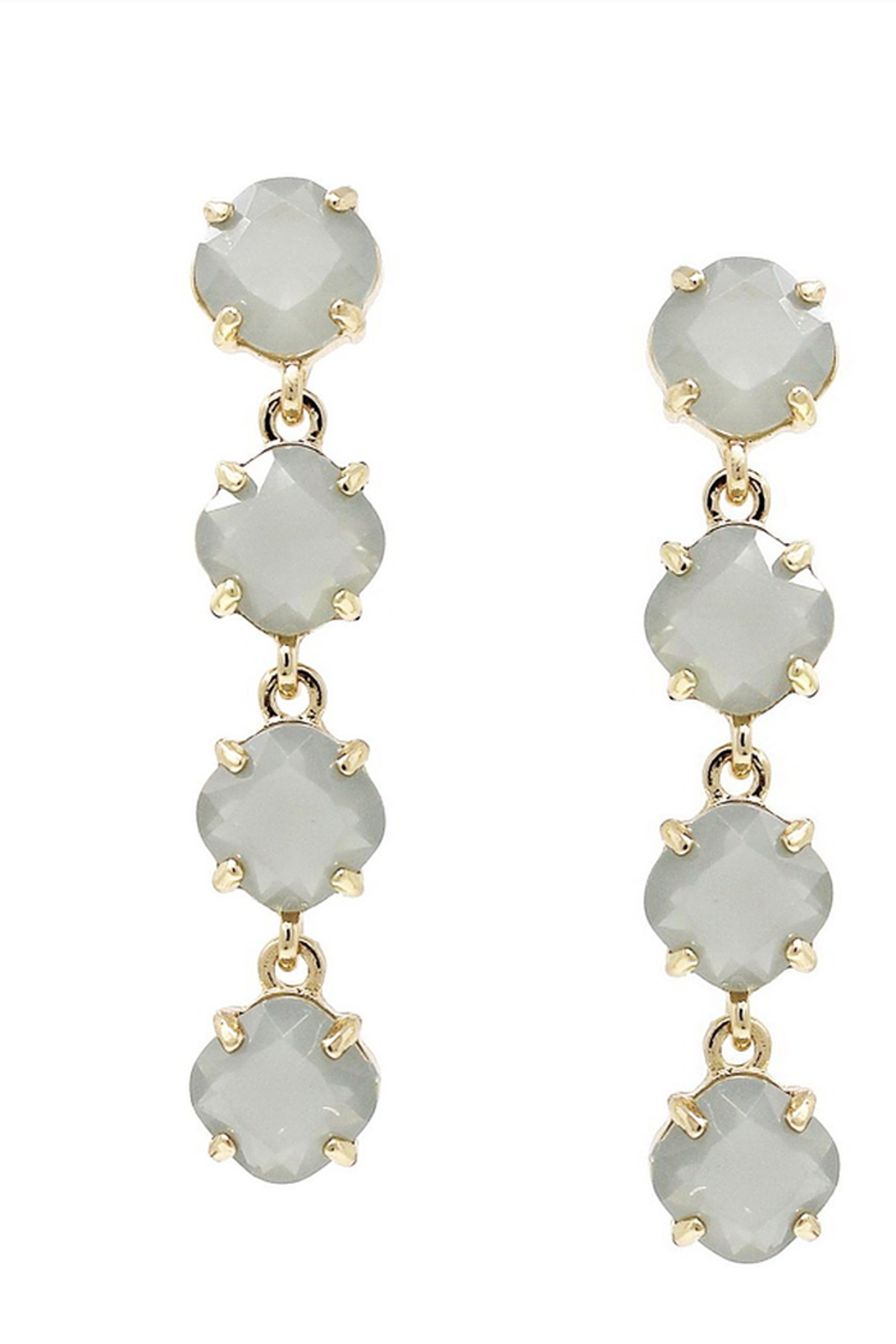 US Jewelry House Grey Drop Earrings - Main Image