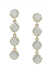 US Jewelry House Grey Drop Earrings - Front cropped
