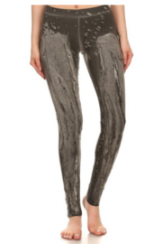 T Party Grey Dye-washed leggings - Front cropped