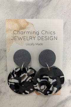 Charming Chics Grey Earrings - Alternate List Image