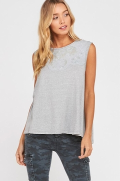 Shoptiques Product: Grey Embroidered Tank