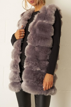 frontrow Grey Faux-Fur Gilet - Product List Image