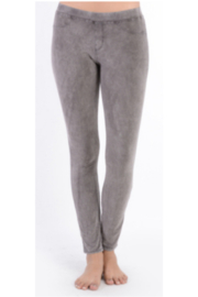 T Party Grey Faux Suede Legging - Product Mini Image