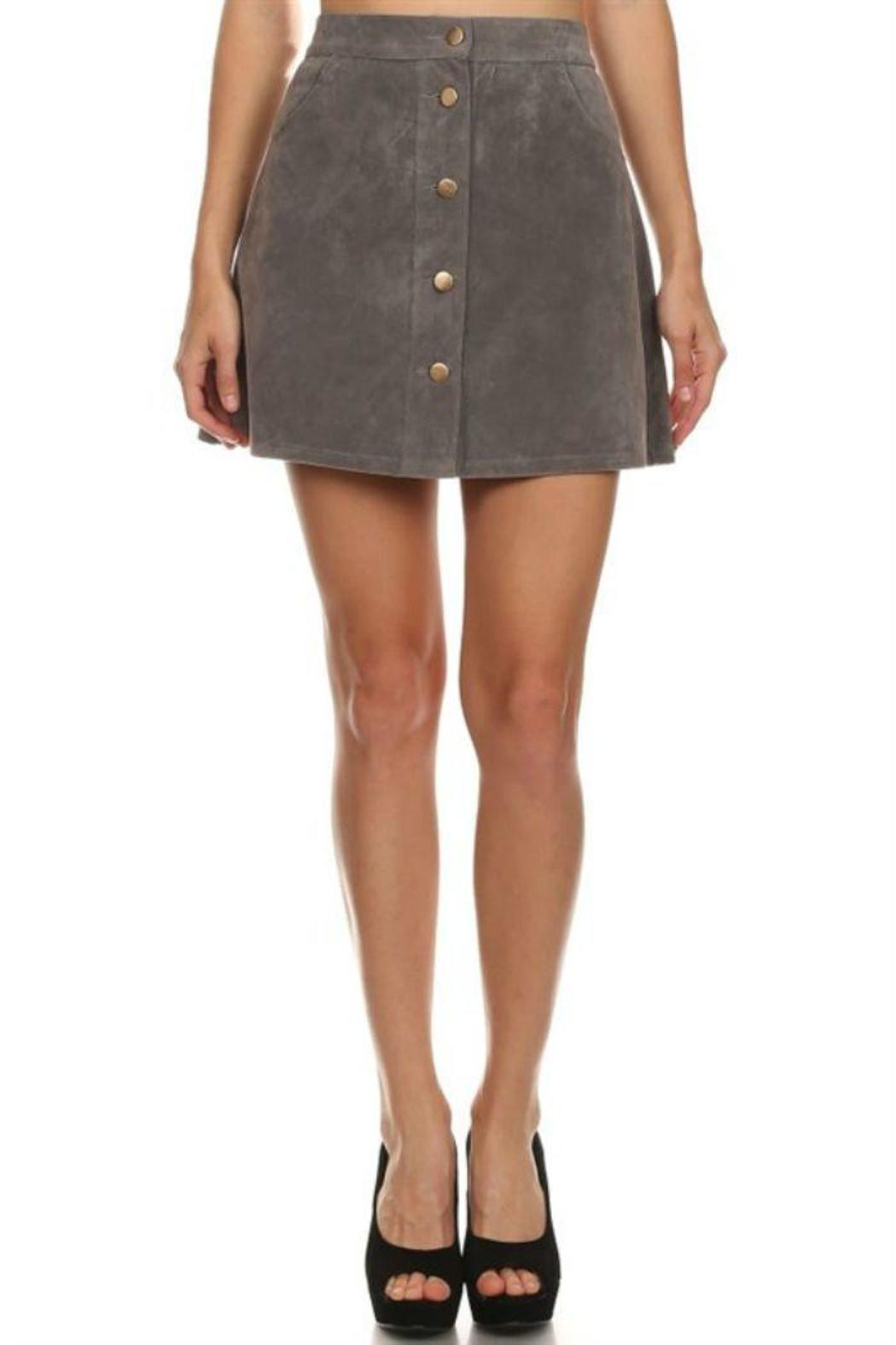 36 POINT 5 Grey Faux-Suede Skirt from Wilmington by The ...
