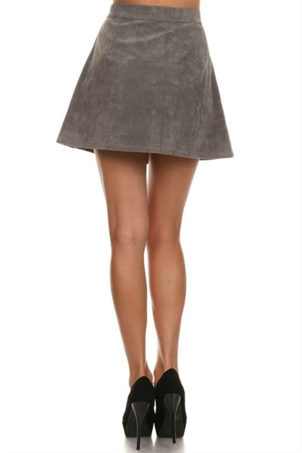36 POINT 5 Grey Faux-Suede Skirt from Wilmington by The Dress Shop ...