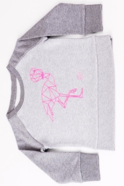 Grey Flamingo Sweater - Front cropped