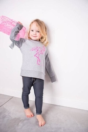 Grey Flamingo Sweater - Front full body