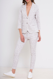 Bianco Jeans Grey Floral Girlfriend Jeans - Product Mini Image