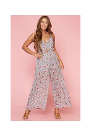 Polly & Esther Grey Floral Jumpsuit - Product Mini Image