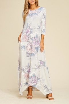 annabelle Grey Floral Maxi - Product List Image