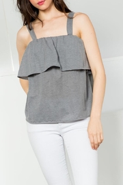 THML Clothing Grey Flounce Top - Product Mini Image
