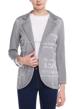 Shoptiques Product: Grey Graphic Blazer