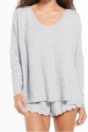 z supply Grey Hangout Top - Front cropped