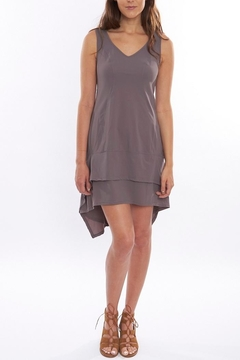 Deca Grey High-Low Dress - Product List Image