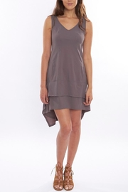 Deca Grey High-Low Dress - Product Mini Image