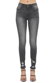 Kan Can GREY HIGH RISE SKINNY - Product Mini Image