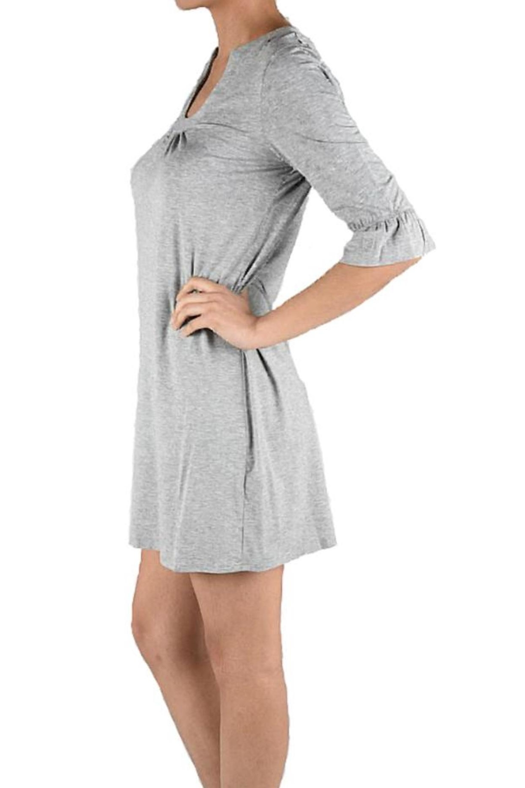 Aryeh Grey Knit Dress - Front Full Image