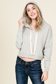 Lumiere Grey Knit Hoodie - Product Mini Image