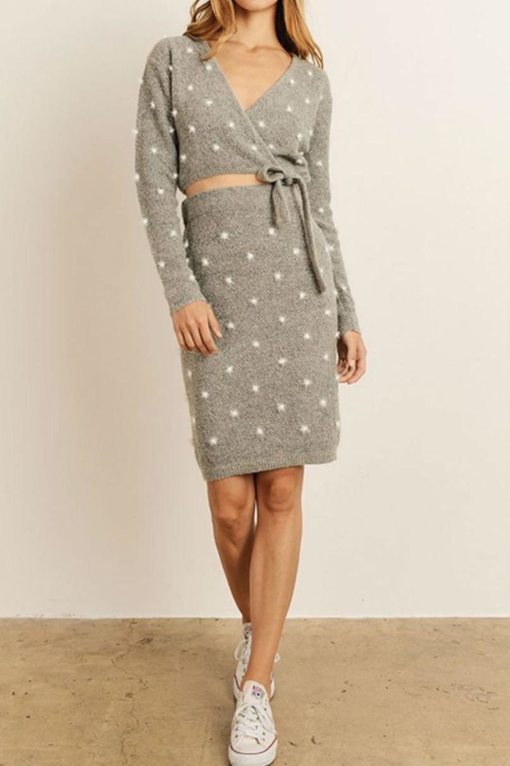 8915d8cd91 storia Grey Knit Skirt from Brooklyn by Glam Expressway — Shoptiques