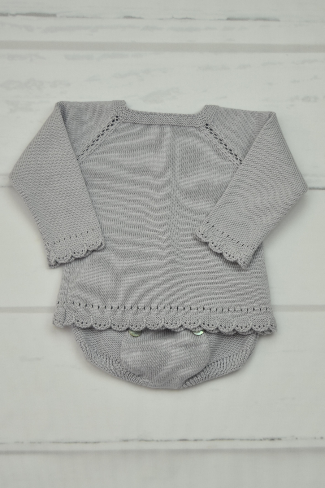 Granlei 1980 Grey Knitted Outfit - Main Image