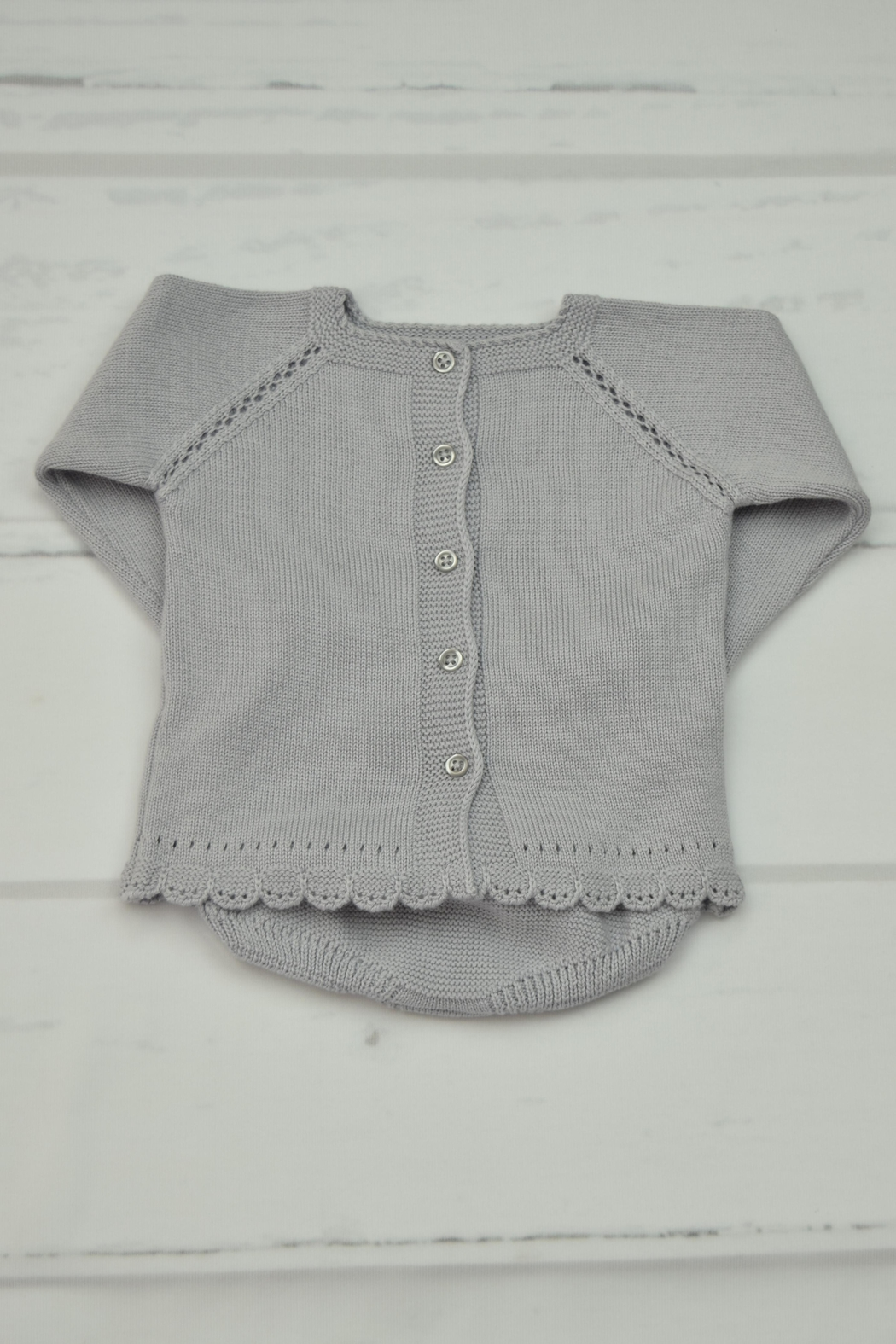 Granlei 1980 Grey Knitted Outfit - Front Full Image