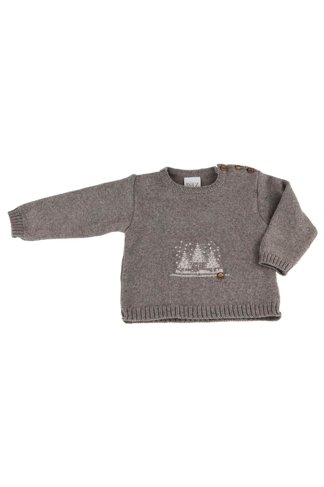 Paz Rodriguez Grey Knitted Pullover. - Main Image