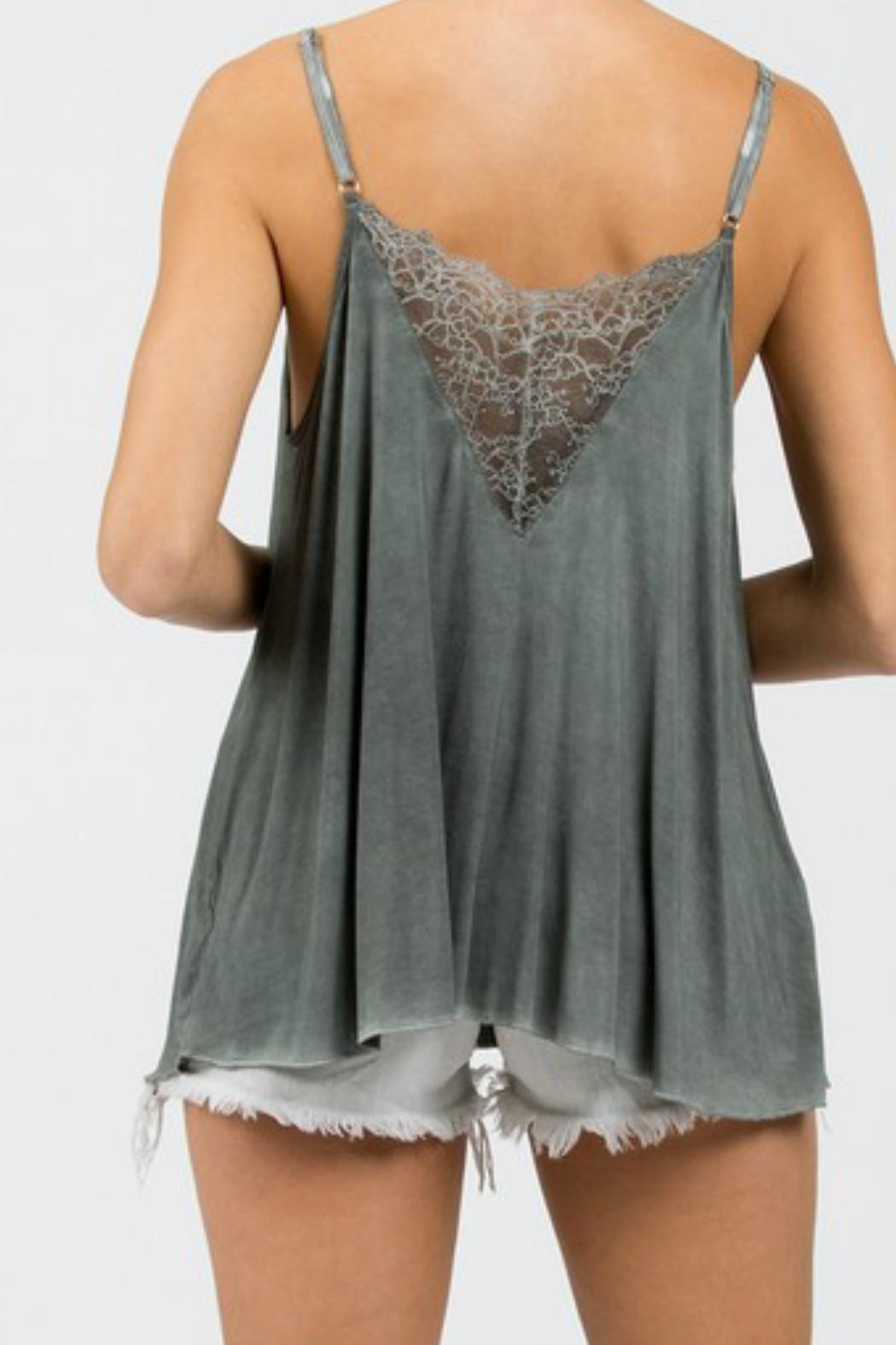 POL Grey Lace Cami - Side Cropped Image