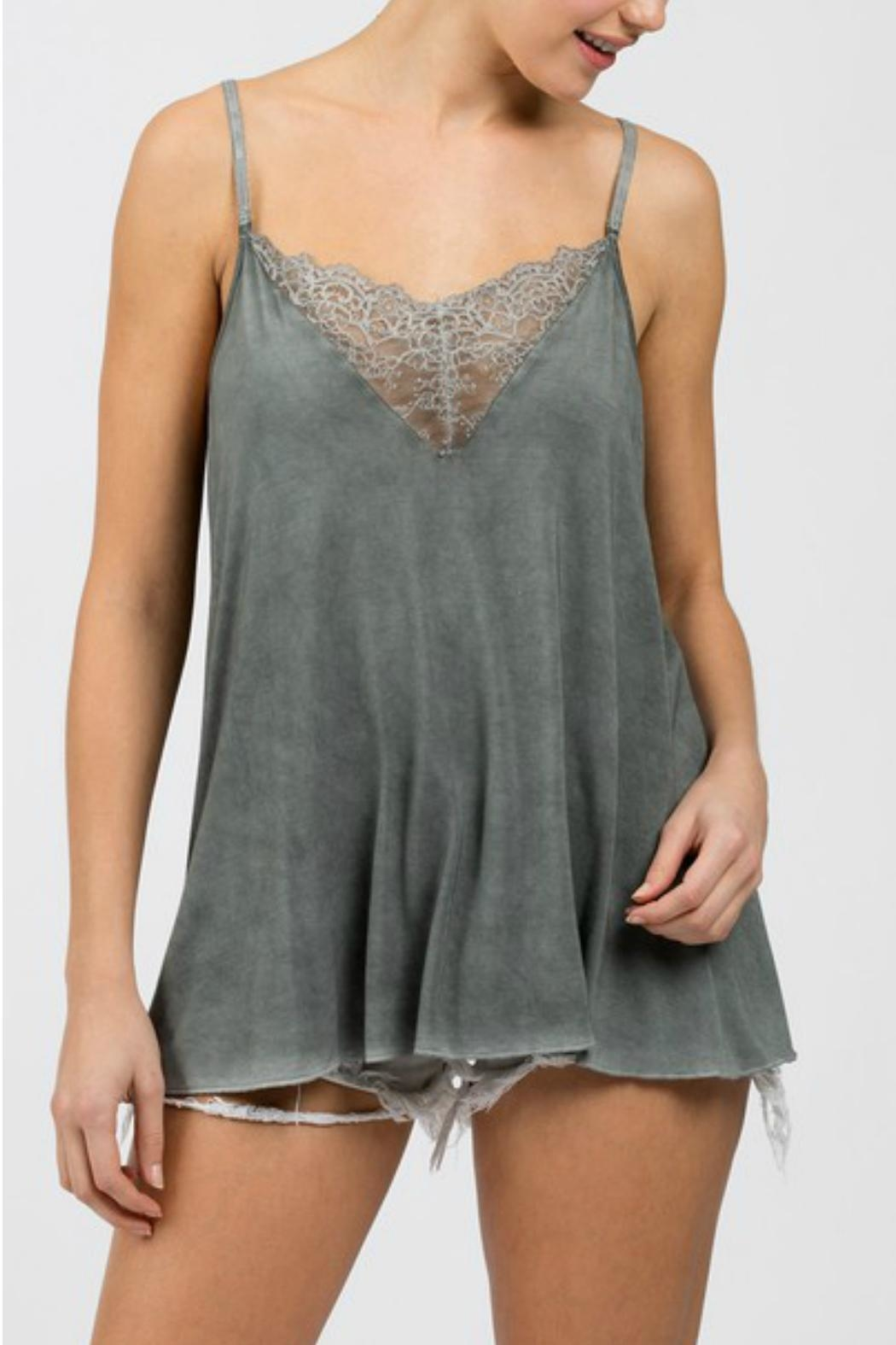 POL Grey Lace Cami - Front Full Image