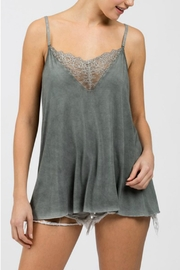 POL Grey Lace Cami - Front full body