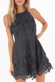Black Swan Grey Lace Dress - Front cropped