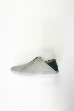 MJUS Grey Leather Sneakers - Product List Image
