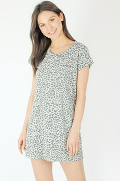 Six Fifty Grey Leopard Tee Shirt Dress - Product List Image